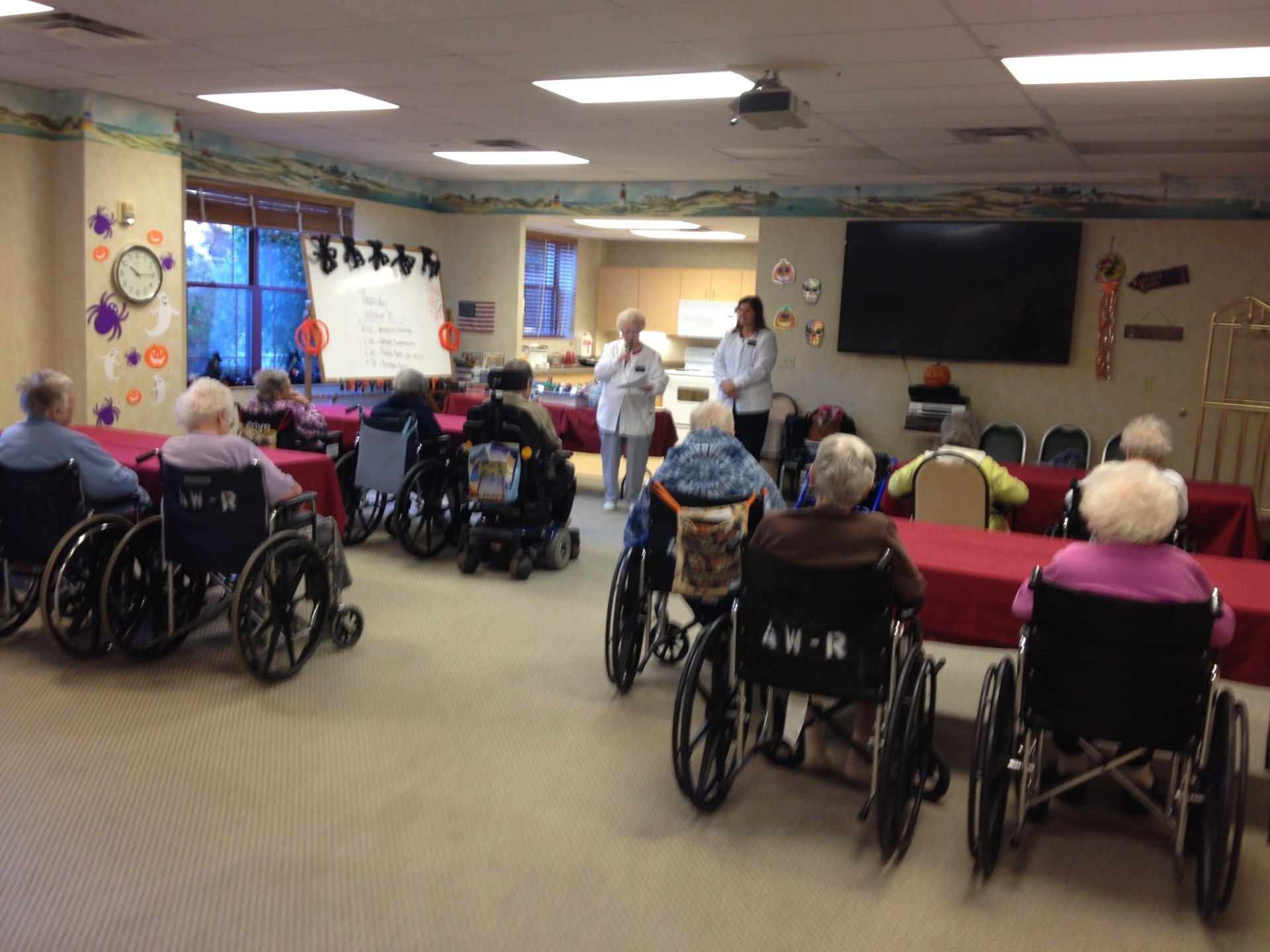 Fran, Megan, & Amy presented to residents of Alden